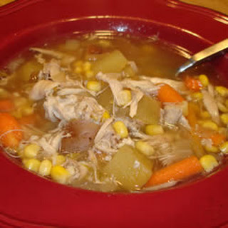 Leftover Roast Chicken Soup