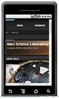 Screenshot of MSL Mars Curisosity
