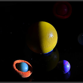 A Planetary System by Prasanta Das - Abstract Patterns ( star, composition, planetary system, satellites )