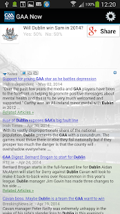 GAA Now - screenshot