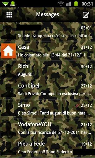 GO SMS Theme Camo