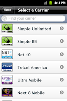 Screenshot of AT&T Go Phone