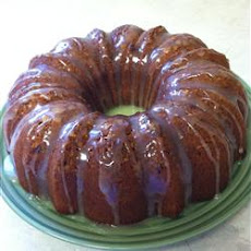 Banana Pound Cake With Caramel Glaze