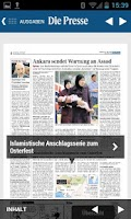 Screenshot of Die Presse