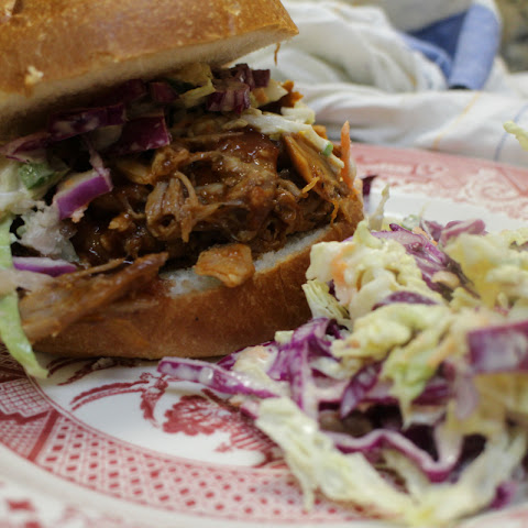 Slow Roasted Pulled Pork Sandwiches with Cole Slaw