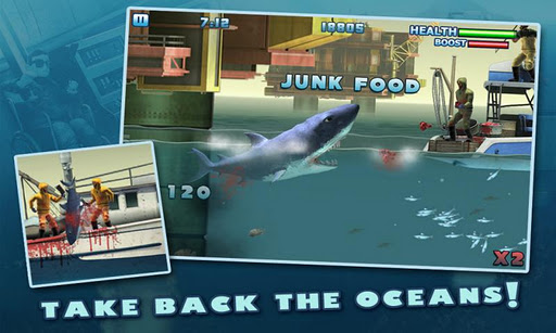 hungry-shark-3-free for android screenshot