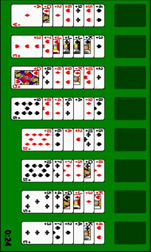 Simple Freecell Solitaire