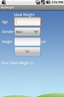 Screenshot of Ideal Weight