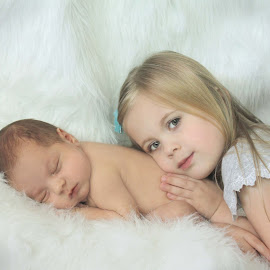 New Brother by Kitty Schaub - Babies & Children Babies ( sister, brother, baby, boy, newborn )