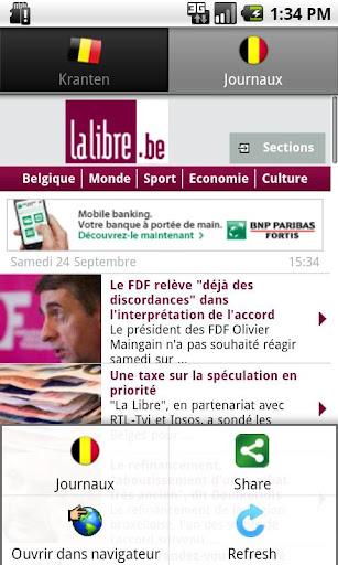Kranten BE België nieuws PRO