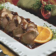 Orange-Cranberry-Glazed Pork Tenderloin