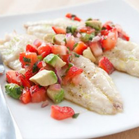 Grilled Red Snapper with Strawberry and Avocado Salsa