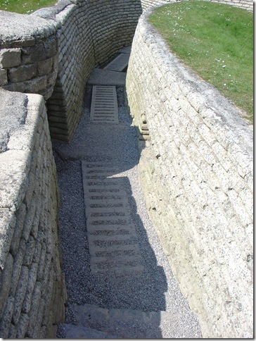 A Restored Trench at Vimy