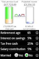 Screenshot of DC Pensions Calculator C-MG