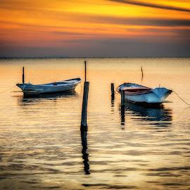by Bouras Panagiotis - Landscapes Sunsets & Sunrises ( sky, sunset, colors, seascape, boat )