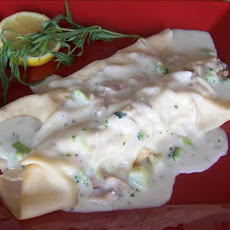 Chicken Crepes With Creamy Tarragon Sauce