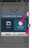 Screenshot of Drawings Camera (Hangouts, FB)