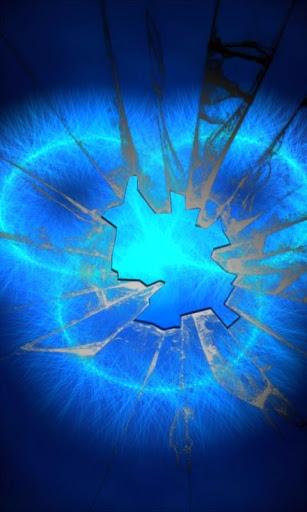 輝く青いリングLWP