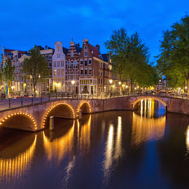 Canal Evening by Dimitri Androutsos - City,  Street & Park  Historic Districts