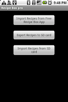 Screenshot of Recipe Box Pro