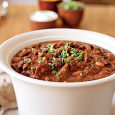 Beef, Black Bean, and Chorizo Chili