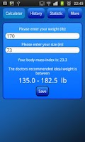 Screenshot of BMI-Calculator Free