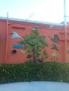 Coconut Tree Mural