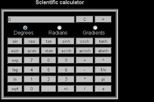 Screenshot of Scientific Calculator