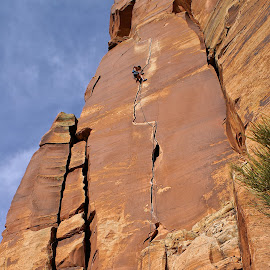 way rambo by Troy Elliott - Sports & Fitness Climbing ( climbing, indiancreek, desert, crack, rockclimbing )