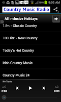 Screenshot of Country Music Radio