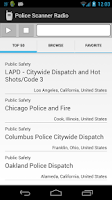 Screenshot of Police Scanner Radio