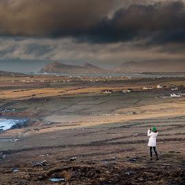 Dramatic Irish Landscape by Gerald Horgan - Landscapes Travel ( skyline, ireland, dingle, dingle peninsula, atlantic ocean, landscape photography, landscape, stunning, panorama, rural )
