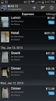 Screenshot of Expense Manager PRO by BluJ IT