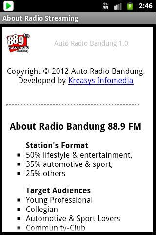 玩音樂App|Auto Radio 88.9 FM Bandung免費|APP試玩