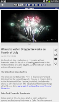 Screenshot of FOX12 Oregon