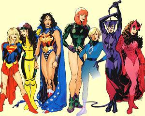 personagens femininas em histórias em quadrinhos