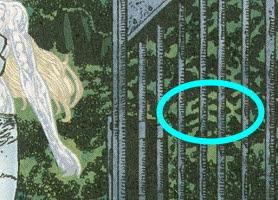 mensagens subliminares nos x-mem, imagem de folhas