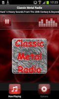 Screenshot of Classic Metal Radio