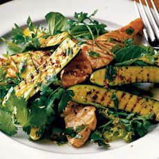 Warm Salad Of Chargrilled Courgettes & Salmon