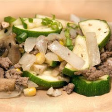 Ground Beef Zucchini Skillet