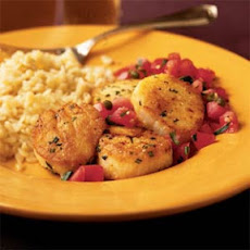 Rosemary Fried Scallops with Tomato-Caper Salad