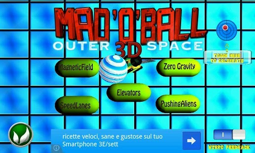 Mad O Ball 3D Outerspace Lite - screenshot