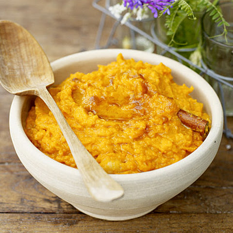 Mashed Sweet Potatoes with Banana and Brown Sugar