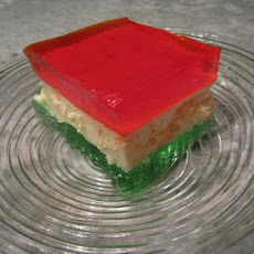 Classic Holiday Ribbon Squares (Jello)