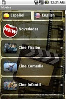 Screenshot of Movies and trailers
