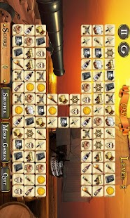 Pirate Ship Mahjong Free - screenshot
