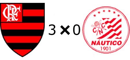 Flamengo 3x0 Náutico