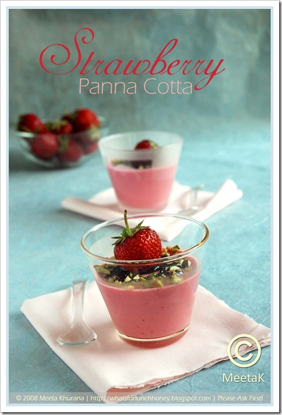 Strawberry Panna Cotta (01) by MeetaK