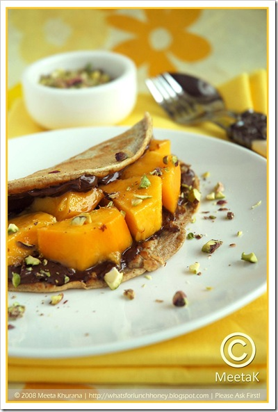 Mango Nutella Pancakes (02) by MeetaK