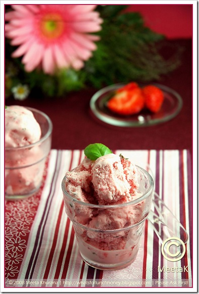 Strawberry Basil Ice Cream (02) by MeetaK
